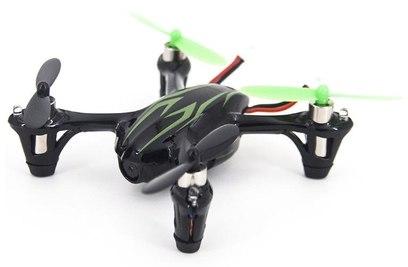 Квадрокоптер Hubsan H107C X4 CAM (черный с зелеными полосками)
