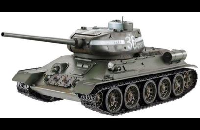 Радиоуправляемый танк Taigen T34-85 (для ИК танкового боя) масштаб 1:16 - TG3909-1S-IR (Белый)