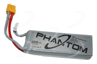 Аккумулятор DJI Phantom (LiPo, 11,1V, 2200mAh, XT60)