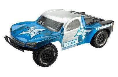ECX Torment 2WD (влагозащита, серебро/голубой)