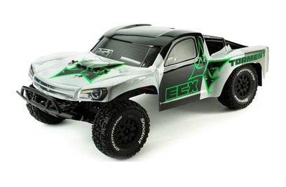 ECX Torment 2WD (влагозащита, черный/зеленый)