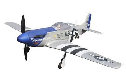 Радиоуправляемый самолет Dynam Mini P-51D World War II 2.4G