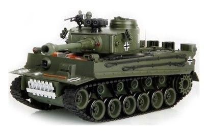 Р/у танк HouseHold German Tiger Green 1:20 40Mhz