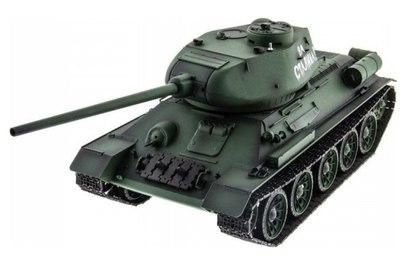 Радиоуправляемый танк HL T-34 | Т-34М Li-Ion с дымом 1:16 2.4G - HL-3909-1 PRO (Танки; 1:16)
