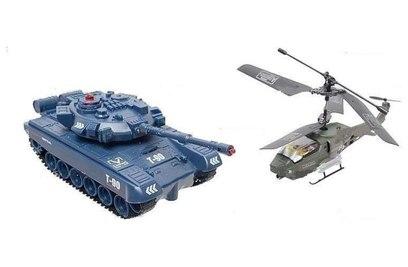 Радиоуправляемый набор танк + вертолет JD803