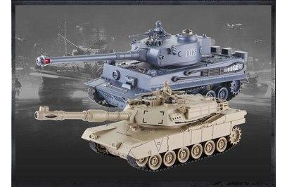 Танковый бой TIGER + Abams Радиоуправляемый танковый бой