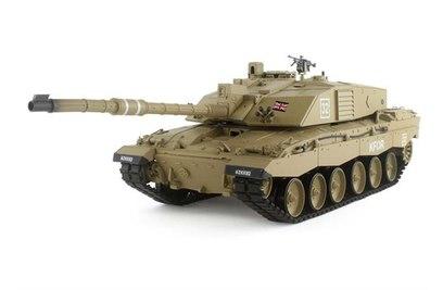 Радиоуправляемый танк Heng Long British Challenger 2 2.4GHz масштаб 1:16 - HL3908-1