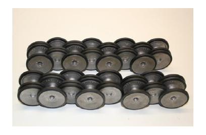 Катки опорные и колесные оси (металл) для Tiger - TG3818-025