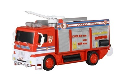 Радиоуправляемая пожарная машина с мыльными пузырями