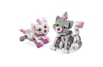 Мягкий конструктор из EVA Soft Blocks Кошка и котенок 180 деталей - 3201