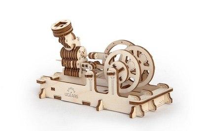 3D-пазл механический Ugears Пневматический двигатель - 70009