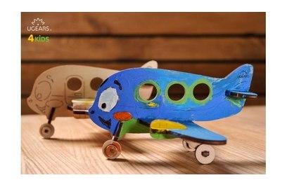 Конструктор 3D-пазл Ugears 4kids Аэроплан - 20002