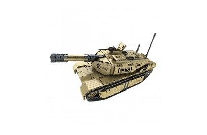 Конструктор QIHUI электромеханический *Airsoft Tank*, 1276 эл. (стреляет пульками) - 9801