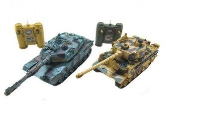 Танковый бой Zegan Leopard 2A5 vs Tiger I 1:28 27 Mhz