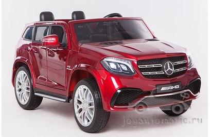Детский электромобиль Mercedes Benz GLS63 AMG LUX 4Х4 Лицензия - HL228 (красный металлик, черный металлик)