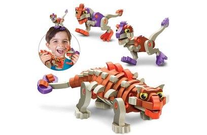 Мягкий конструктор из EVA Soft Blocks *Анкилозавр и малыши* 200 деталей - 3504