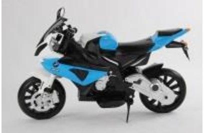 Электромотоцикл BMW S1000RR на аккумуляторе 12V цвет синий Jiajia - JT528-blue