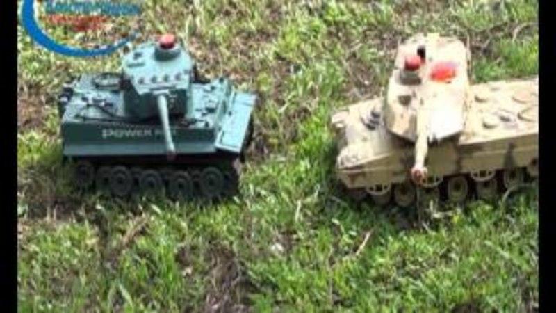 Обзор танка для танкового боя Huan Qi Tiger 1:24 27Mhz