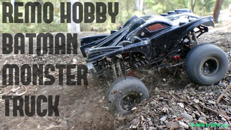 REMO HOBBY Monster Jam BATMAN Brushless 1/10 RC - 2S & 3S Lipo Bash