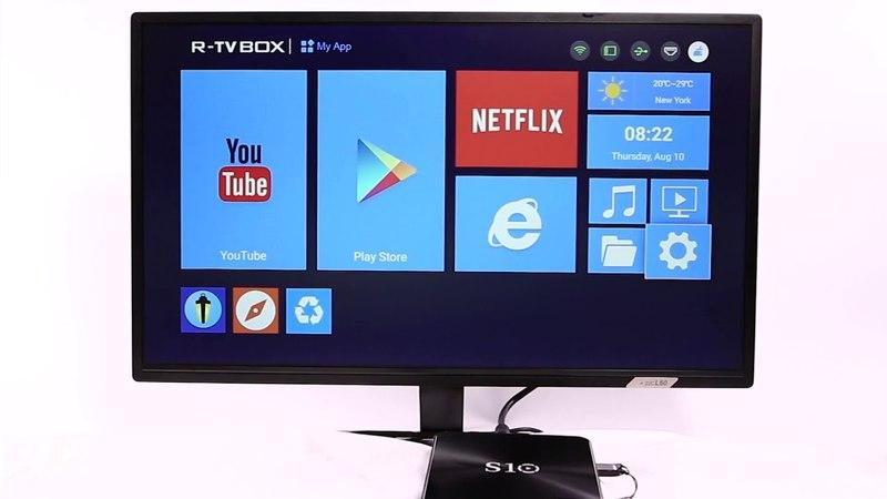 R-TV BOX S10 DDR4 3GB 64GB eMMC Android 7.1 TV Box