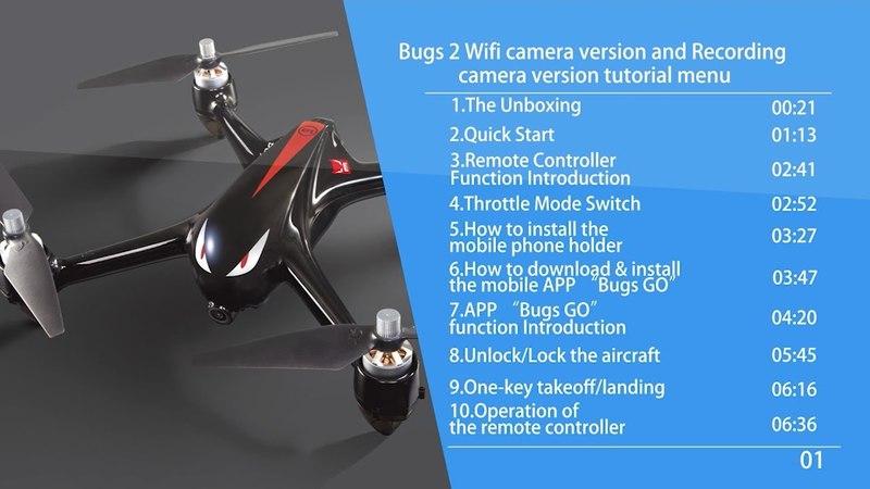 MJX Bugs 2 Tutorial EN