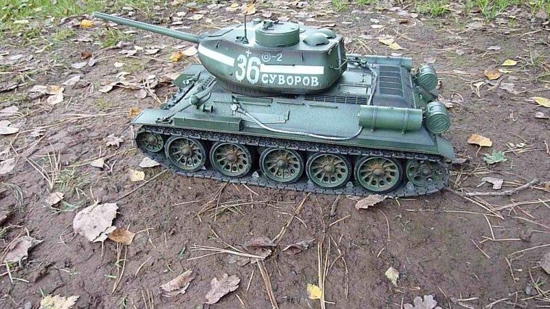Обзор танка Taigen Russia T34-85 Winter 1:16 2.4G